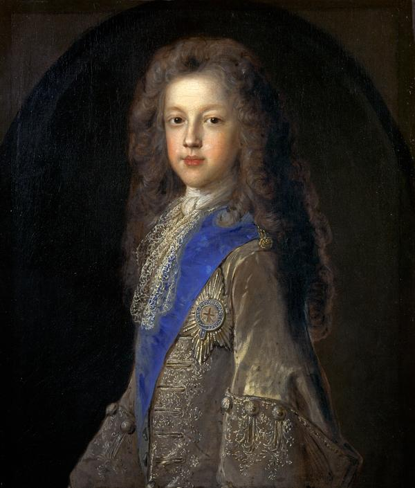Prince James Francis Edward Stewart, 1688 - 1766. Son of James VII and II. (1701)