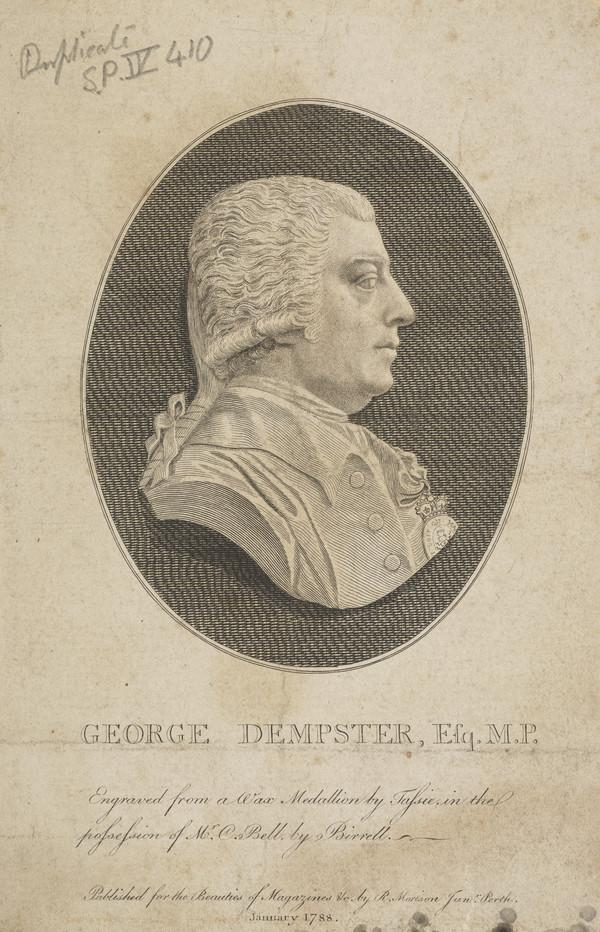 George Dempster of Dunnichen, 1732 - 1818. Agriculturist and Member of Parliament (1788)