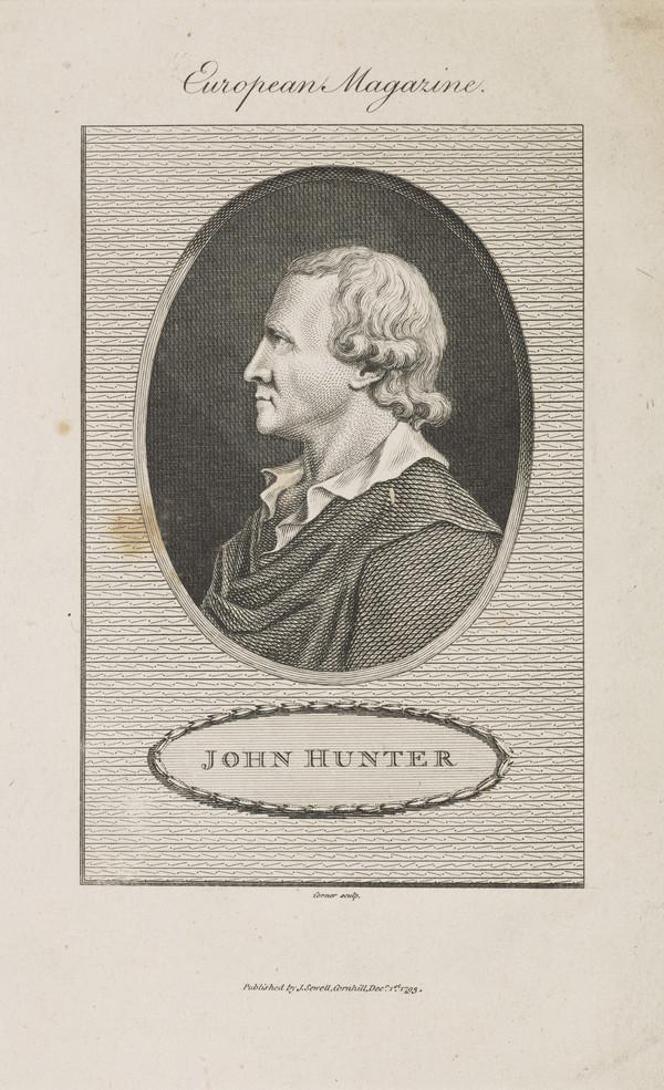 John Hunter, 1728 - 1793. Surgeon and anatomist (Published 1793)