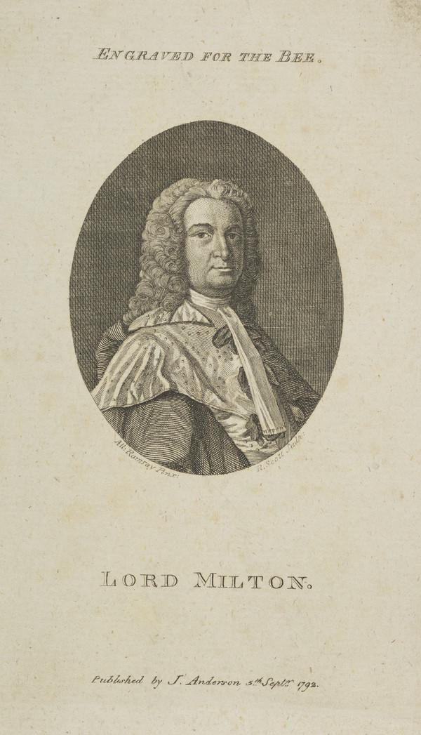 Andrew Fletcher, Lord Milton, 1692 - 1766. Lord Justice-Clerk (Published 1792)