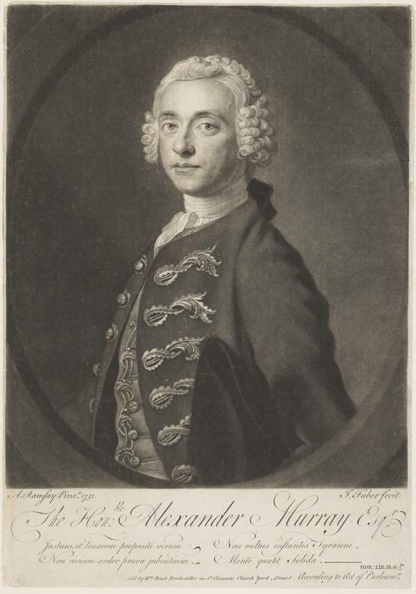 The Honourable Alexander Murray, d. 1777. Son of 4th Lord Elibank; Jacobite