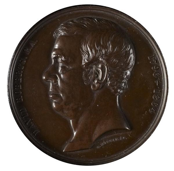 David Roberts, 1796 - 1864. Artist (Laudatory medal commissioned by the Art Union of London) (Dated 1875)