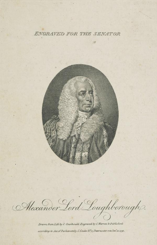 Alexander Wedderburn, 1st Earl of Rosslyn, 1733 - 1805. Lord Chancellor (Published 1791)