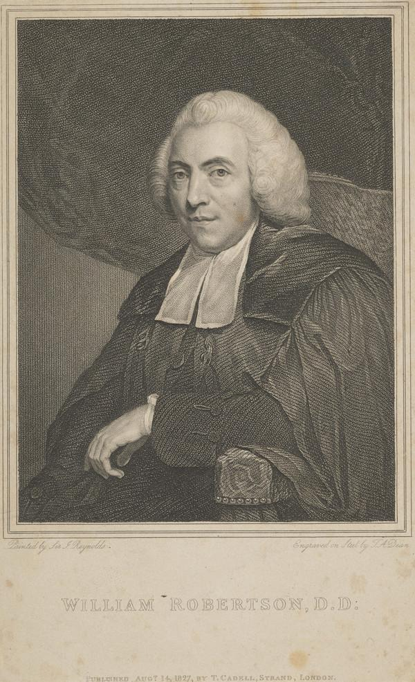 William Robertson, 1721 - 1793. Historian; Principal of Edinburgh University (Published 1827)