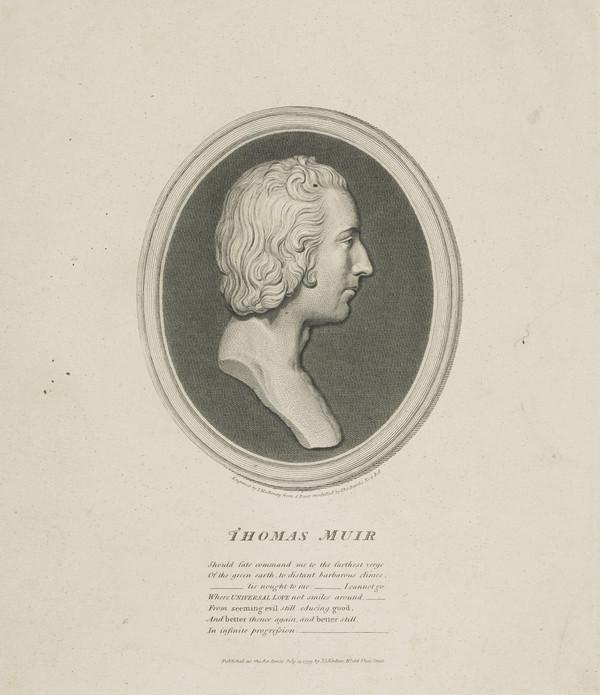 Thomas Muir Junior of Huntershill, 1765 - 1798. Transported for sedition (Published 1795)