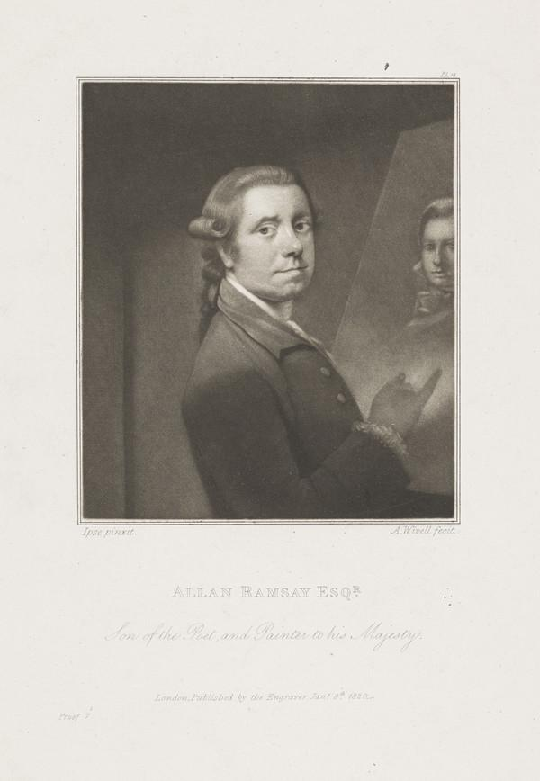 Allan Ramsay, 1713 - 1784. Artist (Published 1820)