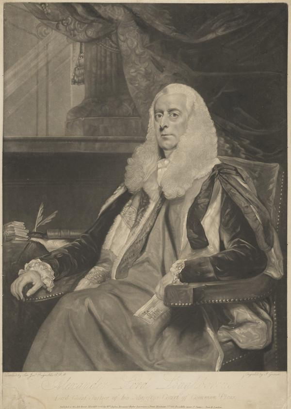 Alexander Wedderburn, 1st Earl of Rosslyn, 1733 - 1805. Lord Chancellor (Published 1786)