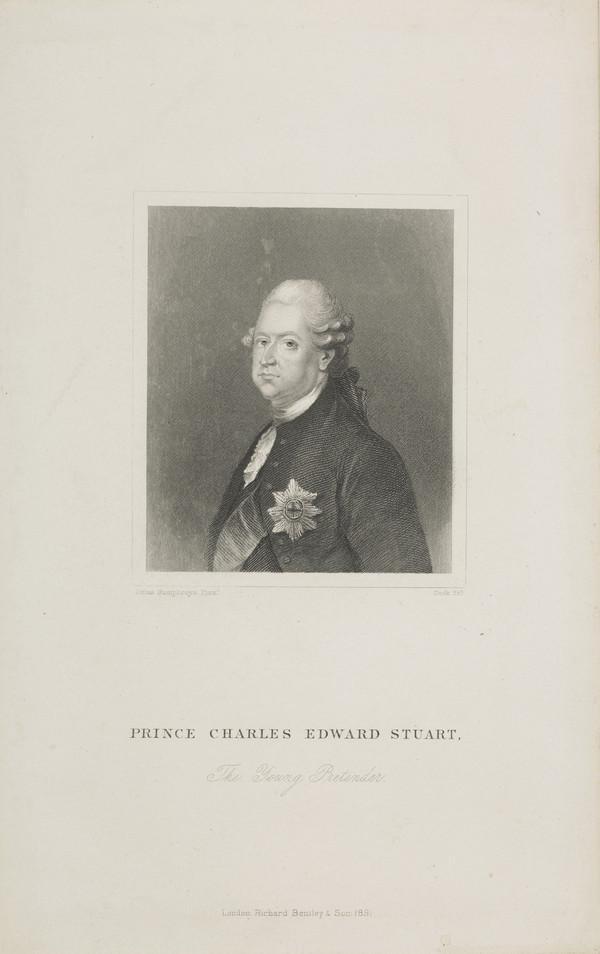 Prince Charles Edward Stuart, 1720 - 1788. Eldest son of Prince James Francis Edward Stuart (Published 1891)