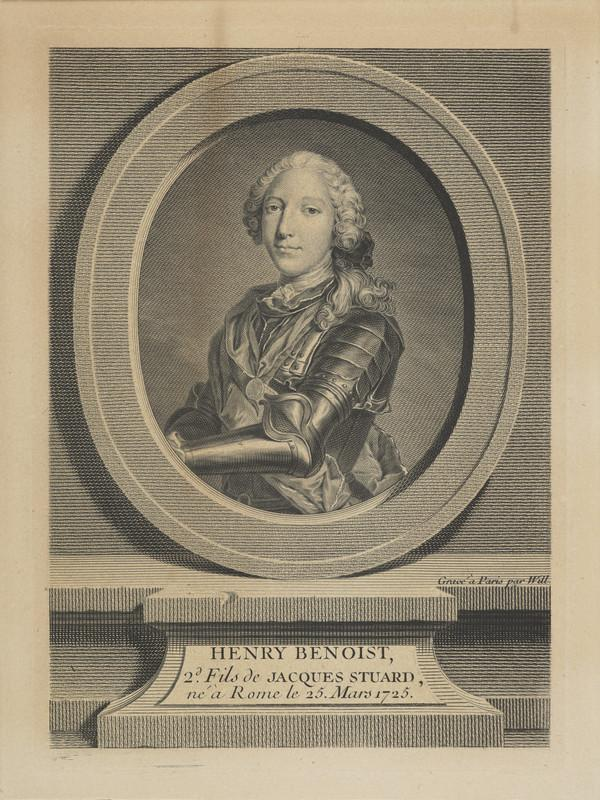 Prince Henry Benedict Clement Stuart, 1725 - 1807. Cardinal York; younger brother of Prince Charles Edward Stuart
