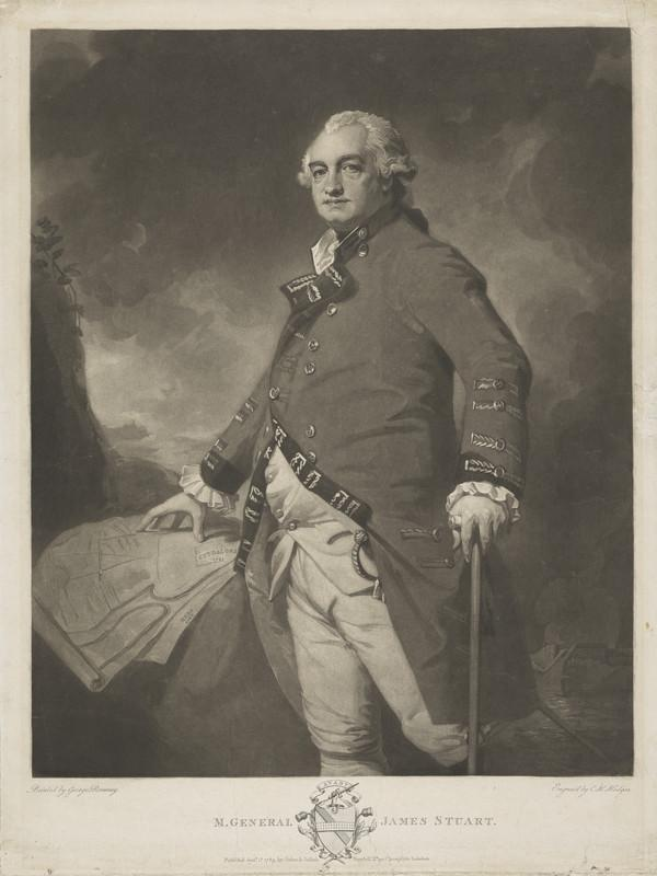 Major-General James Stuart, c 1735 - 1793. Commander-in-Chief in Madras (Published 1789)