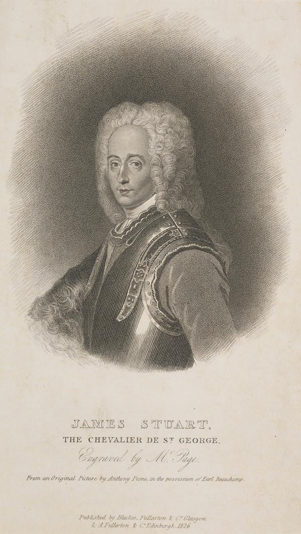 Prince James Francis Edward Stuart, 1688 - 1766. Son of James VII and II (Published 1826)