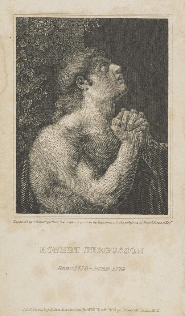 Robert Fergusson, 1750 - 1774. Poet (Published 1821)