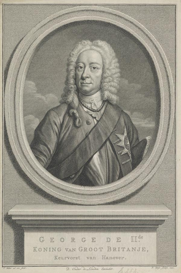 George II, 1683 - 1760. Reigned 1727 - 1760 (1752)