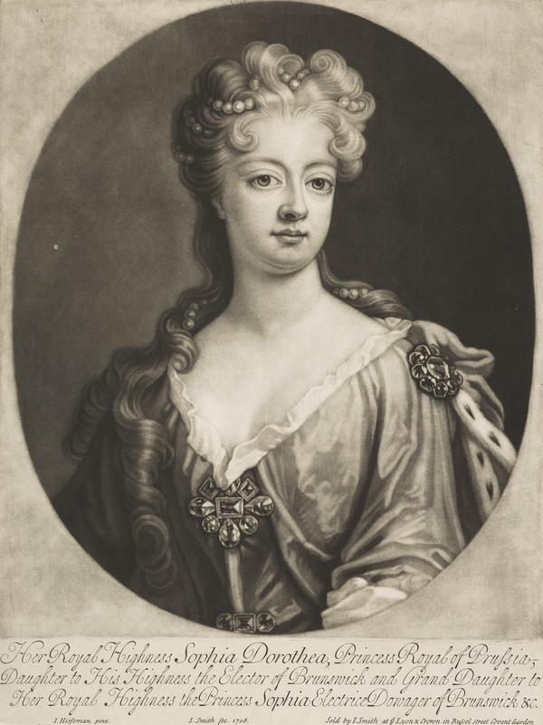 Sophia Dorothea, Queen of Prussia, 1695 - 1757. Wife of Frederick William I of Prussia (1706)