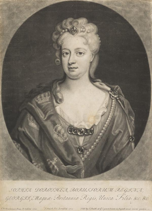 Sophia Dorothea, Queen of Prussia, 1695 - 1757. Wife of Frederick William I of Prussia