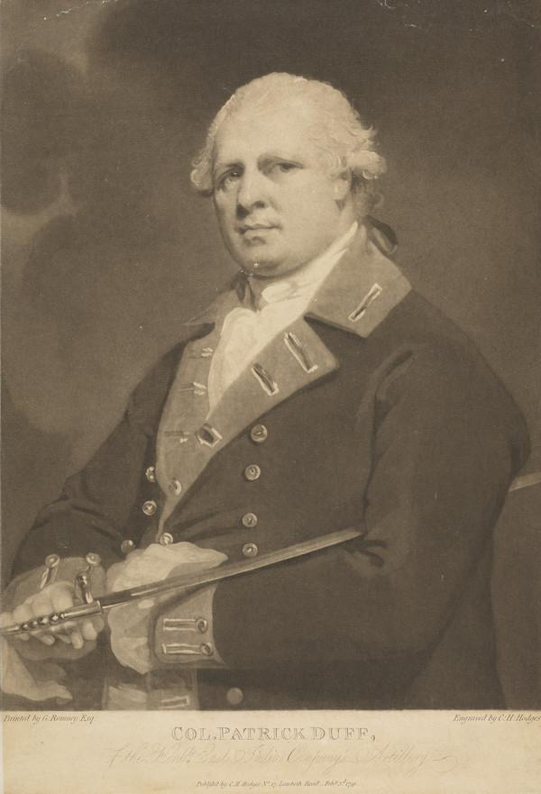 Patrick Duff, 1742 - 1803. Colonel in East India Company Artillery (Published 1791)