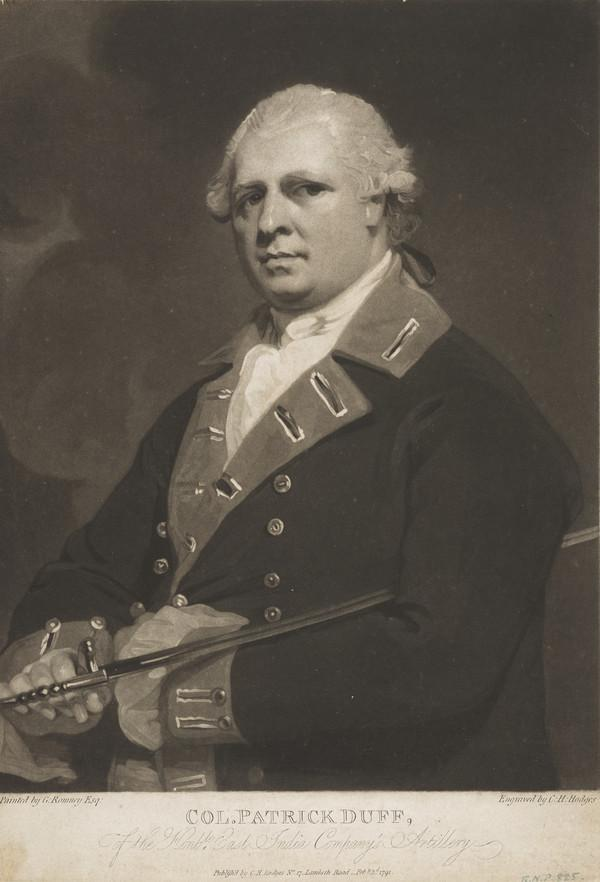 Patrick Duff, 1742 - 1803. Colonel in East India Company Artillery
