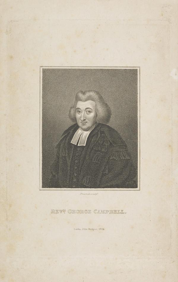 Professor George Campbell, 1719 - 1796. Divine. Principal of Marischal College, Aberdeen (Published 1824)