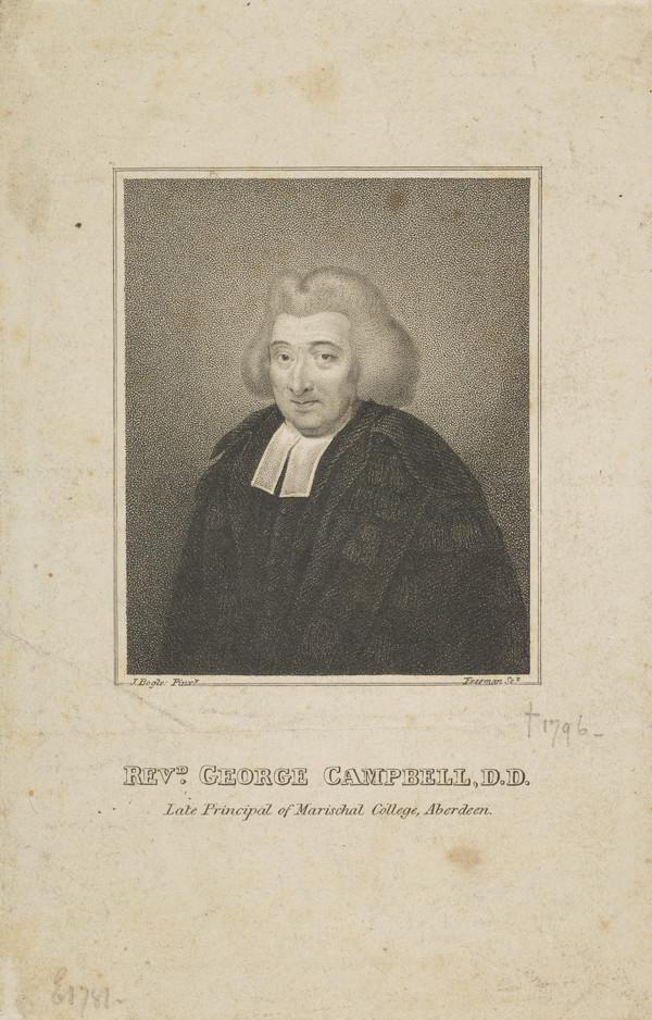 Professor George Campbell, 1719 - 1796. Divine. Principal of Marischal College, Aberdeen
