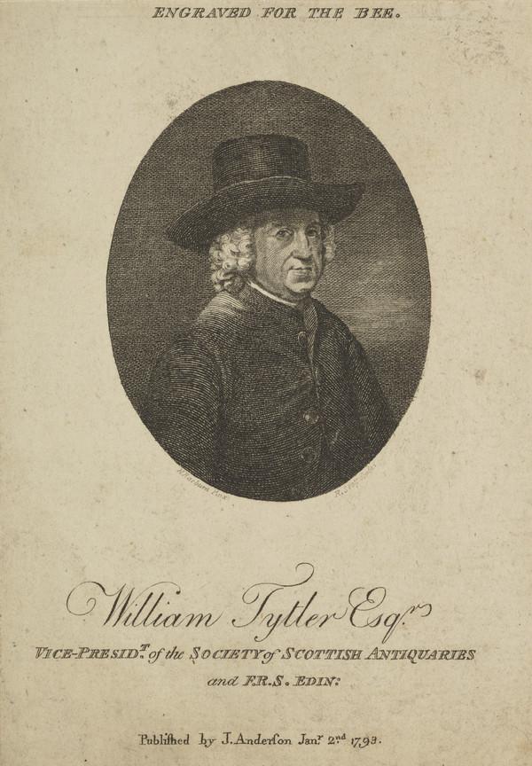William Tytler of Woodhouselee, 1711 - 1792. Historian (Published 1793)