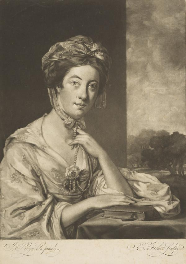 Mary Hope, 1742 - 1767. Wife of J. Hope of London