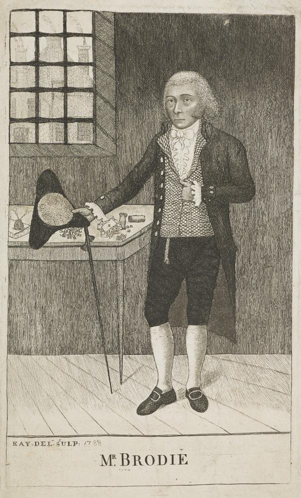 Deacon William Brodie, d. 1788. Scottish gambler and criminal (1788)