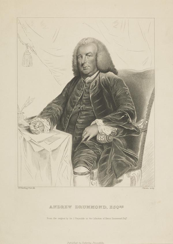 Andrew Drummond, 1688 - 1769. Founder of Drummond's Bank (1846)