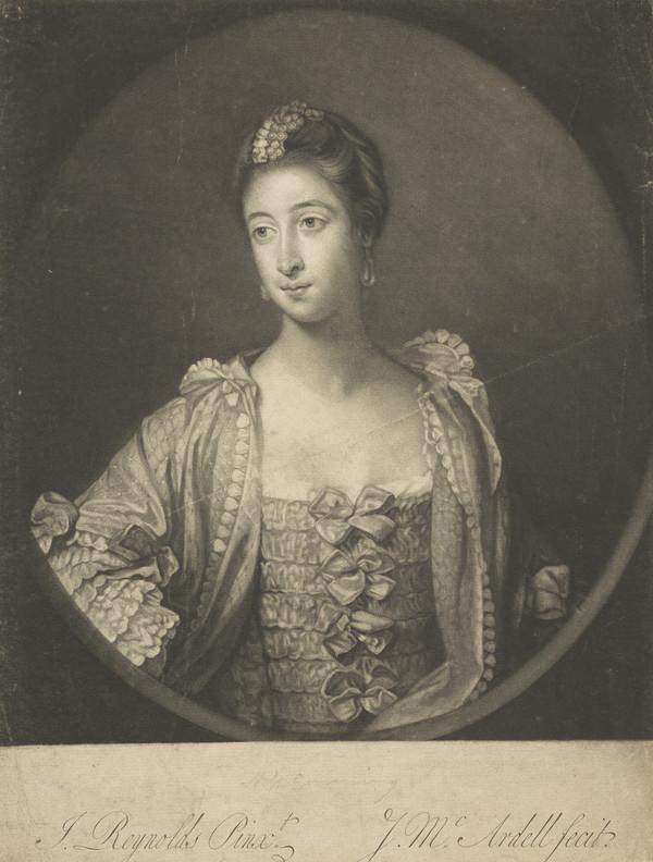 Elizabeth Gunning, Duchess of Hamilton (Later Duchess of Argyll), 1733 - 1790. Famous beauty