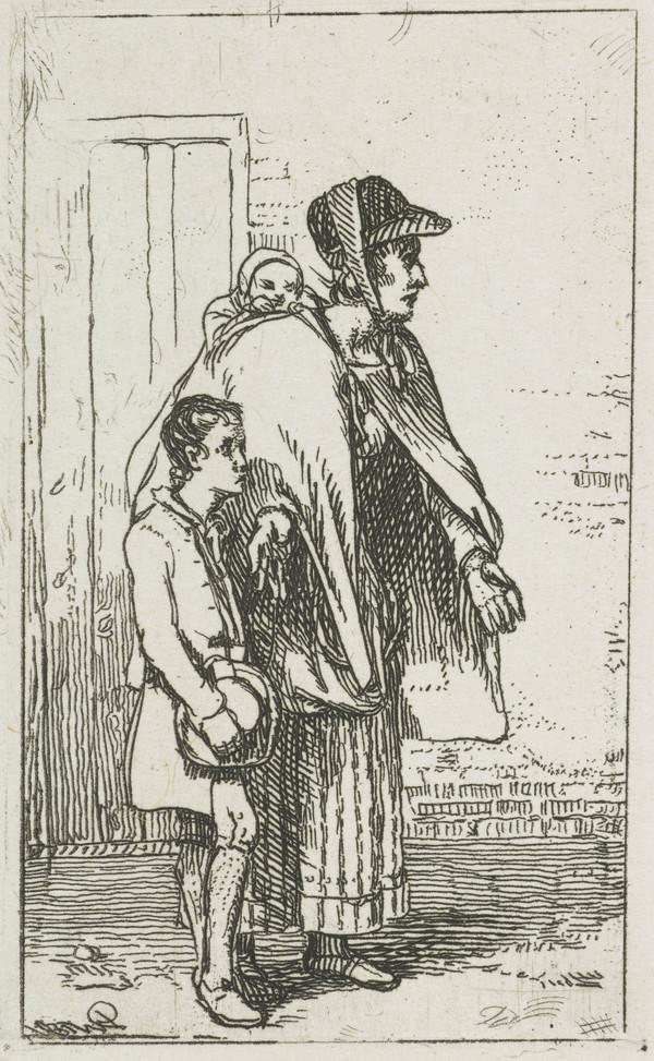 A Beggar Woman with Two Children (Dated 1814 (?))