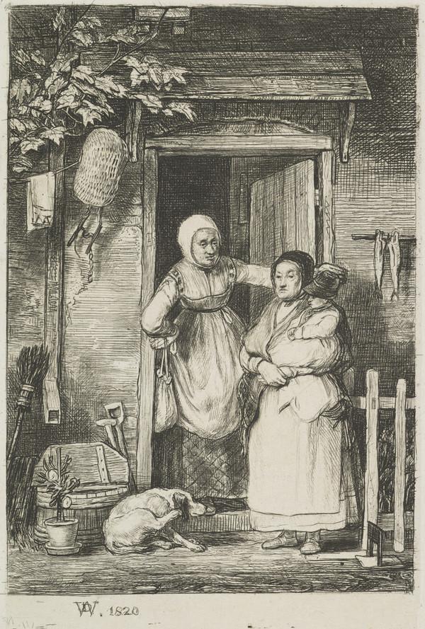 The Cottage Door (Dated 1820)