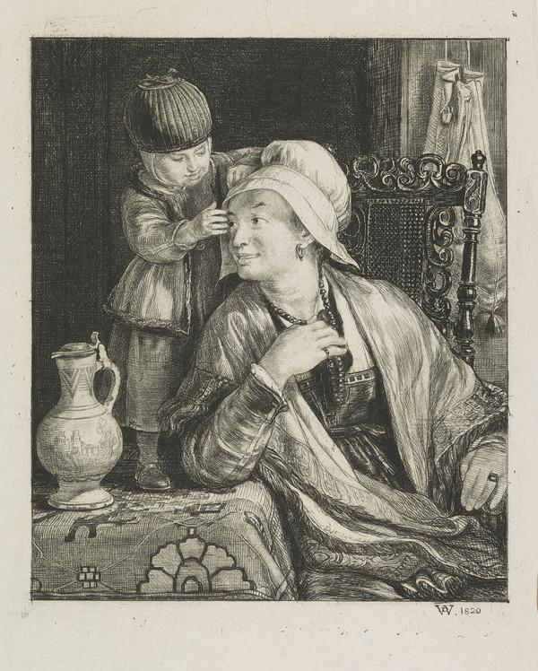 The Flemish Mother (Dated 1820)
