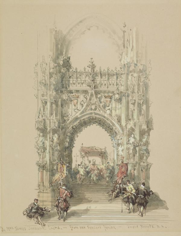 A Gothic Arch and Procession