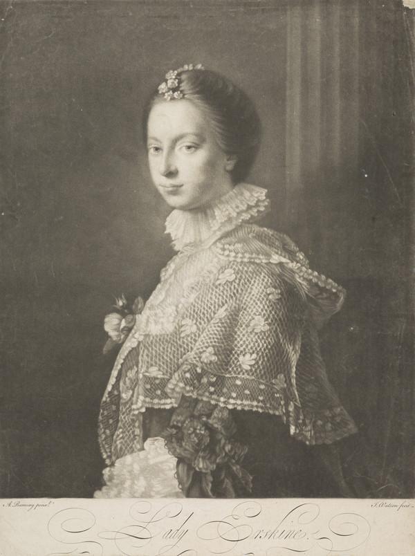 Lady Janet Wedderburn Erskine, d. 1797. Daughter of Peter Wedderburn of Chesterhall; wife of Sir Henry Erskine