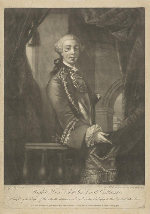 Lieutenant-General Charles Cathcart, 9th Baron Cathcart, 1721 - 1776. Ambassador; fought at Fontenoy (Published 1770)