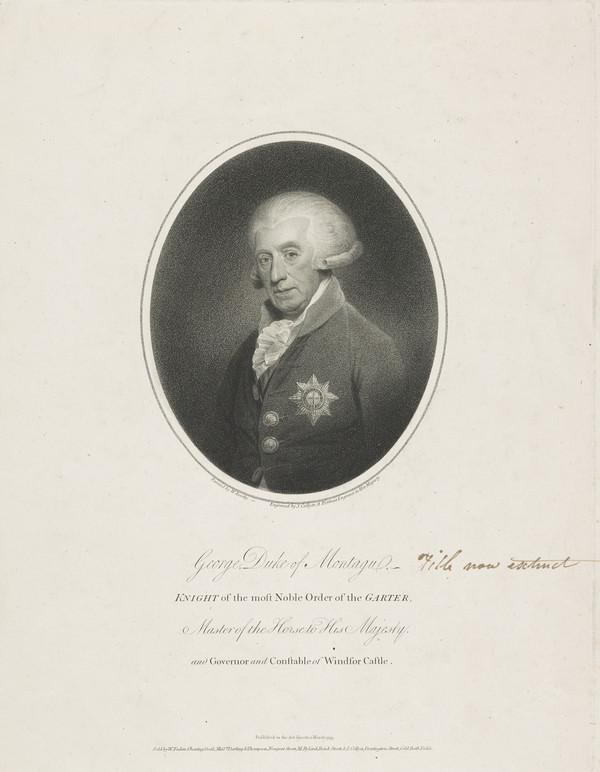 George Brudenell-Montagu, Duke of Montagu and 4th Earl of Cardigan, 1712- 1790 (Published 1793)