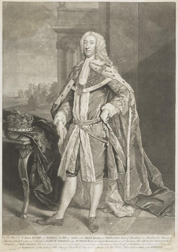 James Murray, 2nd Duke of Atholl, 1690 - 1764. Lord Privy Seal