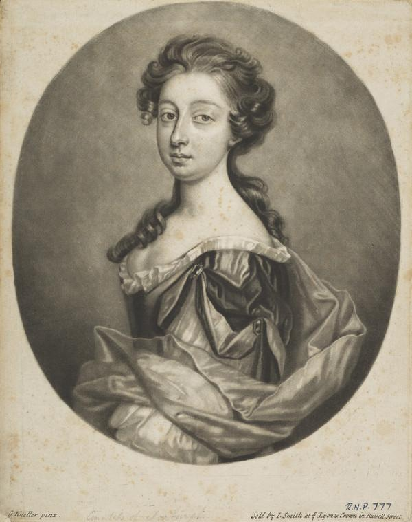 Margaret Hay, Countess of Roxburghe, 1657 - 1753. Wife of the 3rd Earl of Roxburghe