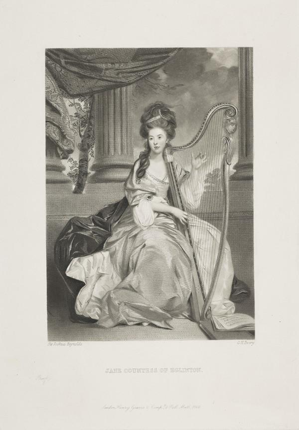 Lady Jean Lindsay, Countess of Eglinton, d. 1778. Wife of Archibald Montgomerie, 11th Earl of Eglinton (Published 1866)