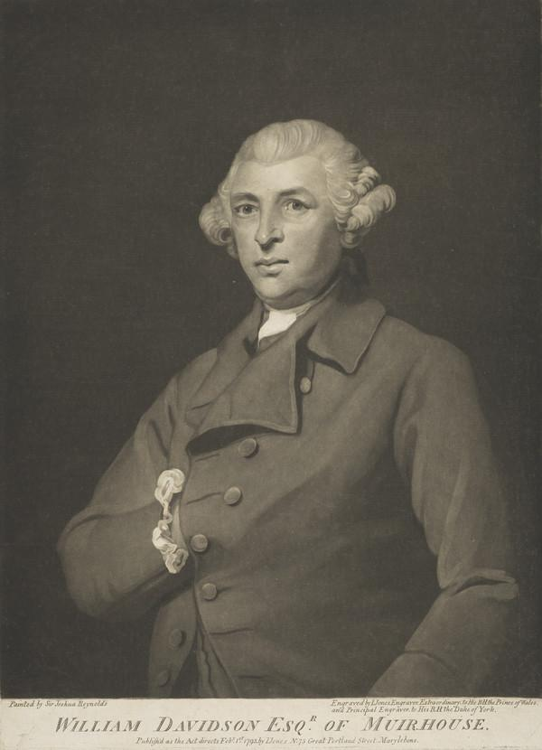 William Davidson of Muirhouse, 1714 - 1794. Merchant in Rotterdam (Published 1793)