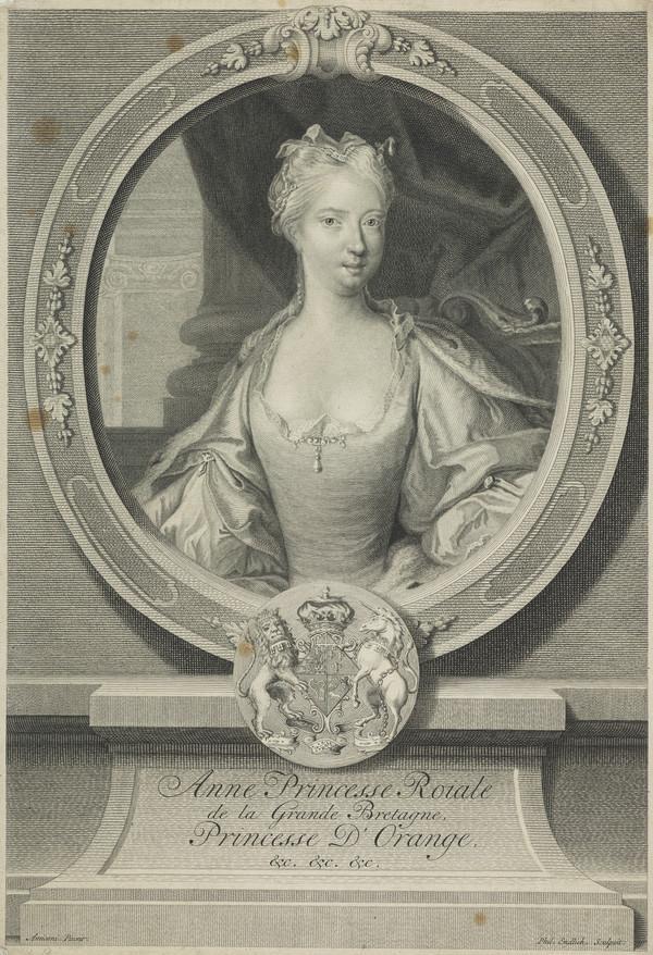 Anne, Princess of Orange, 1709 - 1759. Eldest daughter of George II