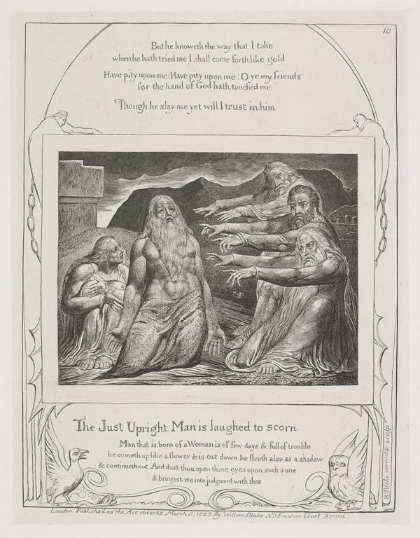 Illustration to 'The Book of Job': The Just Upright Man (10) (1825)