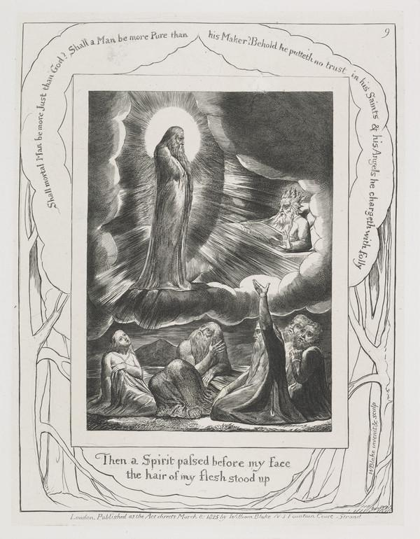 Illustration to 'The Book of Job': Then a Spirit Passed (9) (1825)