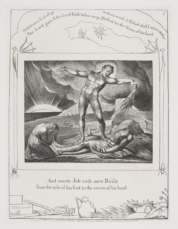 Illustration to 'The Book of Job': And Smote Job With Sore Boils (6) (1825)