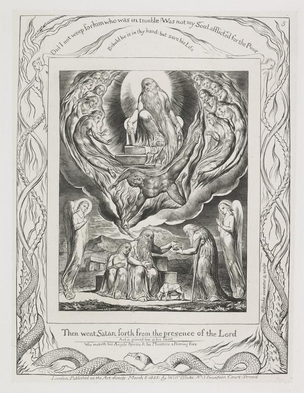 Illustration to 'The Book of Job': Then Went Satan Forth (5) (1825)