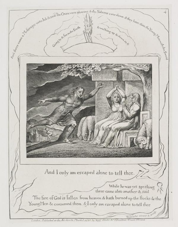 Illustration to 'The Book of Job': And I Only Am Escaped (4) (1825)
