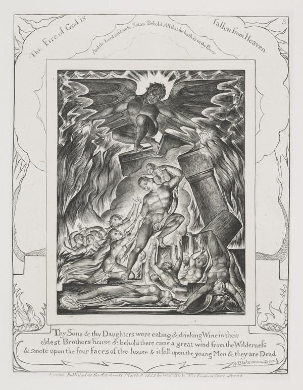 Illustration to 'The Book of Job': Thy Sons and Thy Daughters (3) (1825)
