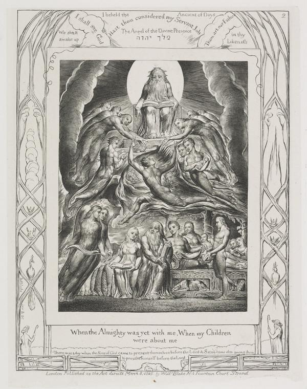 Illustration to 'The Book of Job': When the Almighty was yet with Me (2) (1825)