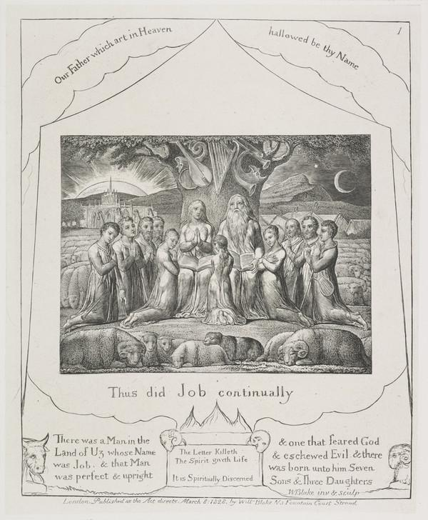 Illustration to 'The Book of Job': Thus Did Job Continually (1) (1825)