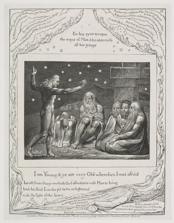 Illustration to 'The Book of Job': I Am Young (12) (1825)