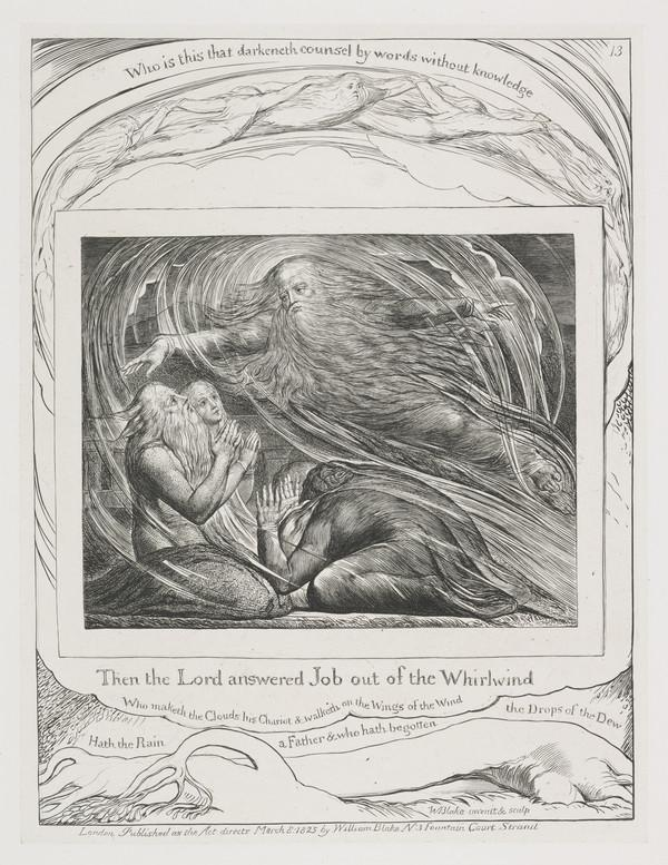 Illustration to 'The Book of Job': Then The Lord Answered Job (13) (1825)